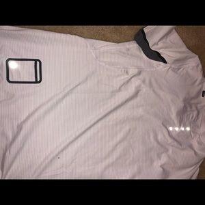 Men's lululemon white black shirt large rare